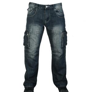 New Mens Jeans Cargo Combat Regular Straight Leg Work Jeans Workwear pants