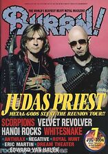 Burrn! Heavy Metal Magazine July 2004 Japan Judas Priest Scorpions Whitesnake
