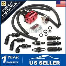 UniversaL Adjustable Fuel Pressure Regulator Kit 160PSI Oil Gauge AN 6 Hose Red