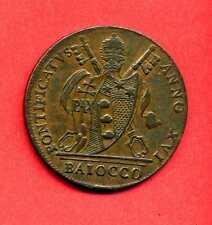 (ET 60) VATICAN PI VII BAIOCCO 1816 BOLOGNE (RARE) SPL