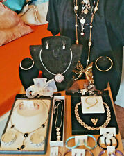 18k Gold pl & Silber Mode-Schmuck Nachlass Konvolut pl Ohr Ring Sammlung Kette