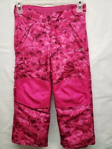 Champion C9 Kids Girls 4/5 Snow Ski Pants Venture Dry Pink Floral Quality