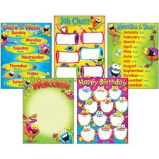 Classroom Basics Frog-tastic!? Learning Charts Combo Pack Trend Enterprises Inc.