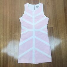 BETTINA LIANO Dress Size 10 Pink Stretch Casual Bodycon Cotton Summer
