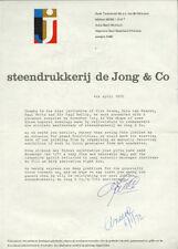 1972 Steendrukkerij De Jong LIBER AMICORUM Bayer ZWART Martens CROUWEL Eksell BK