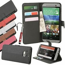 For HTC ONE M8 Leather Case Wallet Credit Card Holder Kickstand Flip Cover