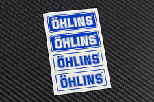 OHLINS gabel schock Dämpfer aufkleber 4 stickers decal durchsich ducati aprilia