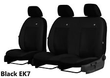 PEUGEOT EXPERT 1996-2006 1.9D HEAVY DUTY BLACK WATERPROOF VAN SEAT COVERS 2+1