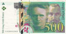 BILLET BANQUE 500 Frs pierre et marie CURIE 1994 SUP 963