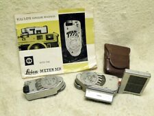 TWO Leitz Leica Accessory Shoe Lightmeter's-- Leica-Meter M & MR w/Manual.1950's