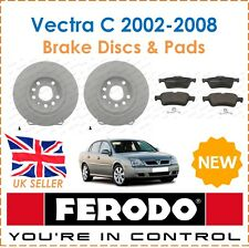 For Vauxhall Vectra C 2002-2008 FERODO Two Rear Brake Discs & Brake Pads New