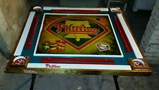 Custom 33 x 33 inch Phillies/ Puerto Rico domino/poker table with folding legs
