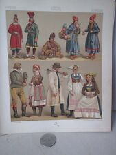 Vintage Print,SWEDEN COSTUME,Costume Historiques,Chromo