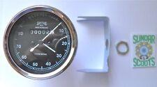 SMITHS type rétro '80mph Compteur, acier inoxydable rim.triumph, norton.bsa, etc