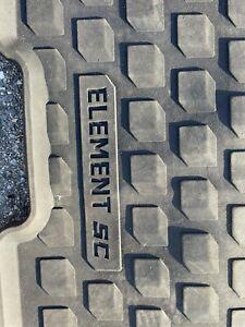 2003-2011 HONDA ELEMENT SC Models ALL SEASON RUBBER FLOOR MATS 2 PIECES