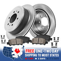Front Disc Brake Rotors and Ceramic Brake Pads For 2005 Mercedes-Benz ML350 Base 3.7L Pads without Hardware Two Years Warranty