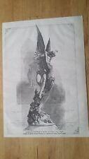 1872 Esposizione Naz. di Milano L'Amore e gli Angeli Marmo di Giulio Bergonzoli