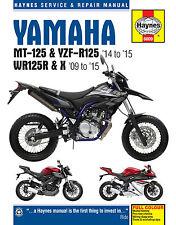 6009 Haynes Yamaha MT-125, YZF-R125 2014 - 2015 y WR125R/X 2009 - 2015 Manual