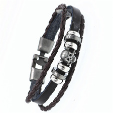 2019 Multilayer Bracelet WOMEN/MEN Casual Fashion Braided Leather Punk Rock 124
