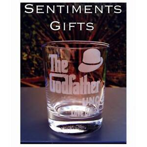 The Godfather Engraved Personalised Glass - Tumbler,Wine,Pint,Highball