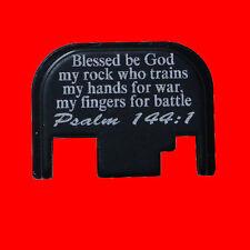 For Glock Rear Slide Back Plate Cover Psalm 144:1  17 19 21 22 23 27 30 34 36
