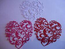 Lacy Heart Die Cut Embellishment x 3 PC