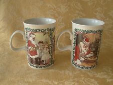 "Set of 2 Dunoon Stoneware Mug ""Merry Christmas""  Motif Scotland"