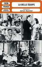 Fiche Cinéma. Movie Card. La belle équipe (France) 1936 Julien Duvivier