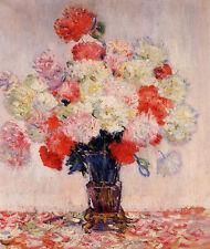 Art Oil painting Claude Monet - Still life flowers Vase of Peonies no framed