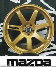 MAZDA 6x ALLOY WHEEL DECAL STICKERS GRAPHICES CHOICE OF COLOURS FAST DISPATCH