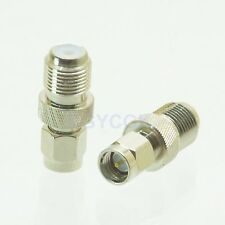 10pcs Conversion Adapter F TV female F to SMA male M connector for radio nickel