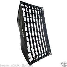 Bessel 80cm x 120cm Softbox + diffusers & grid Bowens S-Fit Quick & Easy PopUp