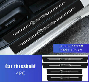 4pc Carbon Car Door Sills Stickers for Toyota Scuff Plate Cover Auto Accessories