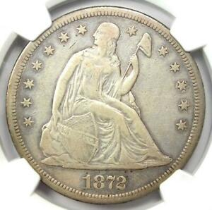 1872-S Seated Liberty Silver Dollar $1 Coin - NGC VF Details - Rare S Mint !