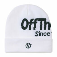 VANS TALL CUFF WHITE OFF THE WALL BEANIE HAT FASHION STYLE WARM OUTDOORS