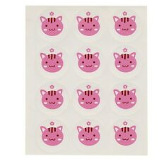 Chat Chaton stickers rose 5 feuilles, 60 Stickers au total, 3.5 cm rond, free p&p