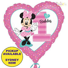 MINNIE MOUSE 1ST BIRTHDAY PARTY SUPPLIES 48CM SUPERSHAPE FOIL BALLOON