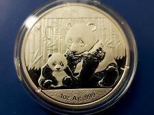 10 Yuan China Panda 2012 - 1 Unze Silber stgl./bu in Kapsel