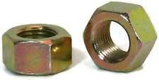 """Hex Finished Nuts Grade 8 Yellow Zinc USA UNF - 7/16""""-20 - Qty-25"""