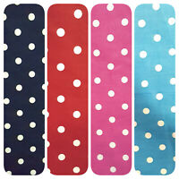 """SMALL WHITE DOT PRINT 100% COTTON FABRIC 45"""" BY THE YARD 4 COLORS"""