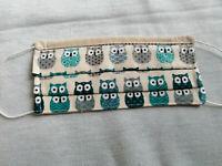 masque de protection artisanal Adulte en coton  lavable et réutilisable