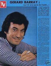 Coupure de presse Clipping 1974 Gerard Barray   (1 page)