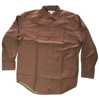 Banana Republic Mens 16-16.5 Large Shirt Brown Long Sleeve Button Front