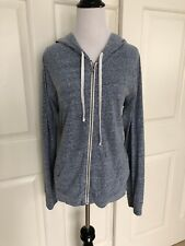 AMERICAN EAGLE LIGHTWEIGHT HEATHER BLUE HOODIE JACKET - XL / LARGE