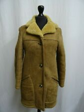 Women's Brown Sheepskin Coat Size 6 Dry Cleaned