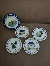 """MWW Market HOW TO MAKE BLUEBERRY COBBLER 4.5"""" Mini Plate Set of 4 In Box NEW!"""