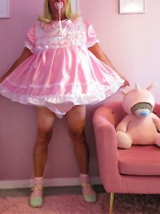 Sissy Baby Satin Party  Dress set From Nanny Sue