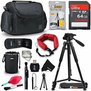 Accessories Kit w/ 64GB f/ Canon EOS Rebel T7i T7 T6i T6S T6 T5i T5 T4i T3i T2i