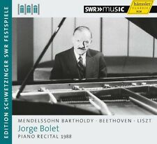 Mendelssohn / Beetho - Jorge Bolet Piano Recital 1988 [New CD]