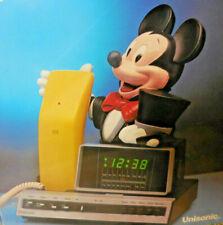 1983 Mickey Mouse Clock Radio TELEPHONE Unisonic Vintage Disney Model 6052